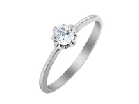 Engagement ring PD20110200 with round diamond from PalladinDiamond collection